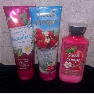 Bath And Body Works Strawberry Lotion Lot